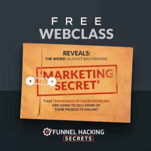 Free Webclass on Marketing Secrets for success